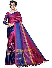 7e0cd688ab9a6e AnK Women s Latest Cotton Silk Saree with Blouse Piece