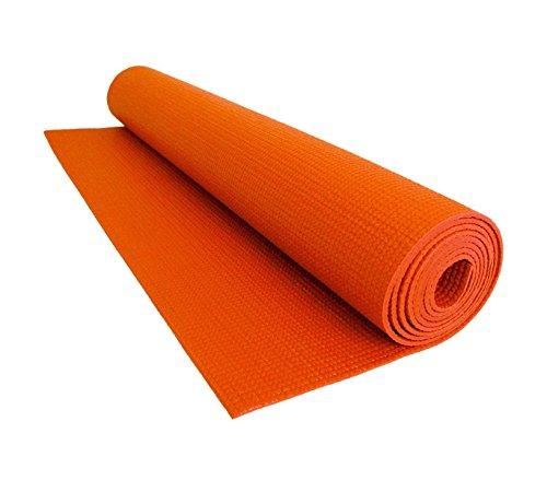 Vetrineinrete® tappetino yoga antiscivolo tappeto palestra fitness aerobica pilates ginnastica materassino colore arancione p22