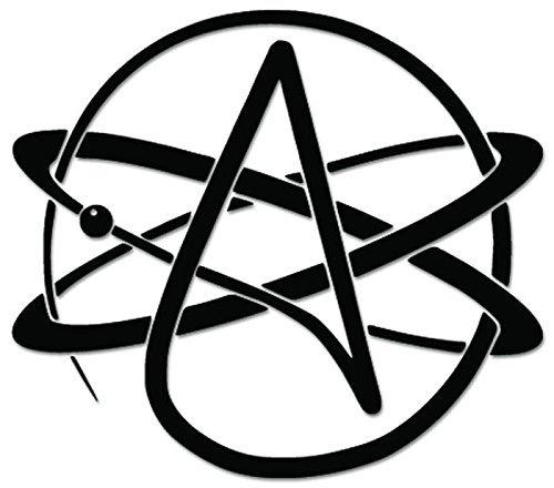 Atheism Atheist Agnostic Sign Symbol - [6 inch/15 cm Wide] - Aufkleber von SUPERSTICKI® für Auto,Scheine,Lack,Motorrad,Wandtattoo,Tattoo Sticker, Autoaufkleber für alle glatten Flächen, Aufkleber ohne Hintergrund - Profi-Qualität