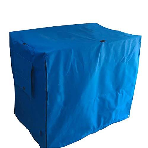 LJIANW-Abdeckung Gartenmöbel Haustier Zwingerabdeckungen,Drinnen Draußen Wasserdicht Winddicht Hundekiste Abdeckung Polyester for Drahtkisten, 24 Größen (Color : Blue, Size : 145x 99x 133CM)