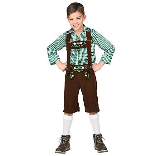 Kinder Lederhosen Kostüm - Widmann 06948 Kinderkostüm Bayer, Jungen, Mehrfarbig, 158