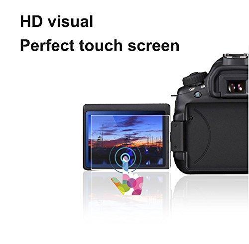 Foto & Tech 2Sets Crystal Clear HD LCD-Displayschutzfolie für Nikon D5600Digital Kamera LCD Monitor Bubble Free, mehrschichtige Schmier Beschichtung/einfach anzubringen