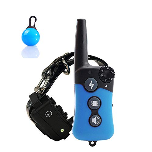 TZlong Collare Addestramento Cani Collare Antiabbaio Cane Educativo Impermeabile Ricaricabile Collare Cane con 3 modalità Telecomando di 300m Range