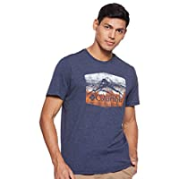 Columbia Men's Molimo Pass T-Shirt, Blue (Collegiate Navy Graphic 1 464), Large