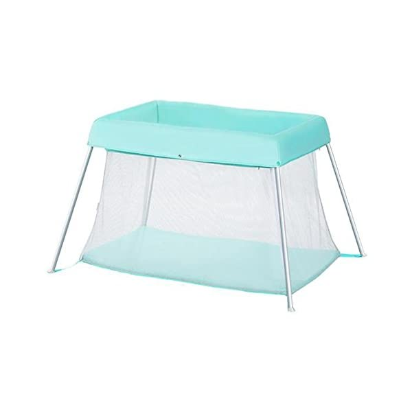 Baby HTTMYY Portable Folding Crib Children Multifunctional Double Layer Travel/Game Bed Baby Size:Game bed inner diameter:1020*600mm;Second floor bed inner diameter: 730*410mm;Folding Size: 600*520*180mm Style: Simplicity, Functions: Portable, foldable, Applicable crowd: 0-2 year old Hammock eccentric zipper design sleek without edges and corners to prevent the baby clip feet clip finger 6