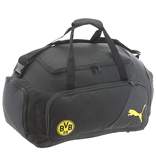 PUMA BVB Liga M Bag Tasche, Black-Cyber Yellow, UA