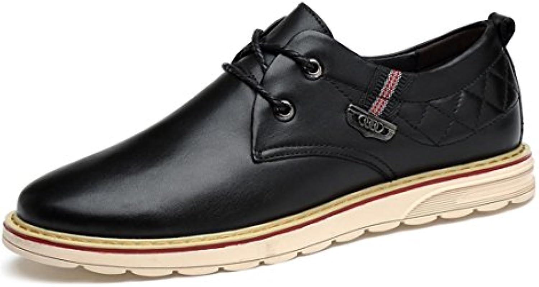 Herren Rutschfest Flache Schuhe Freizeit Lederschuhe Große Größe Lässige Schuhe Geschäft Freizeitschuhe Fahrt