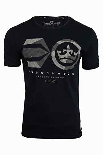 Crosshatch Herren T-Shirt Night Sky