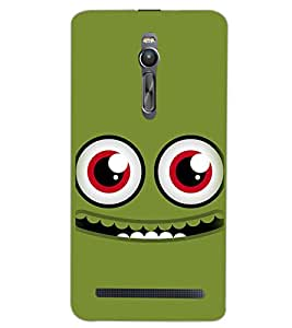 PrintDhaba SMILEY D-6548 Back Case Cover for ASUS ZENFONE 2 (Multi-Coloured)