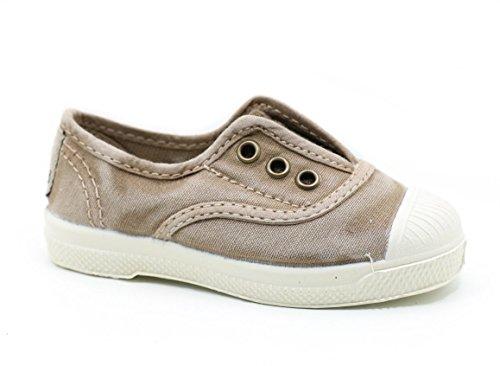Natural World Chaussures en Coton avec Fond de Caoutchouc Unisex 470E621 Beige Taille: 24