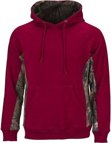 88c05c857e80 TrailCrest Men's Camo Cambrillo Hooded Sweatshirt, Burgundy, X-Large