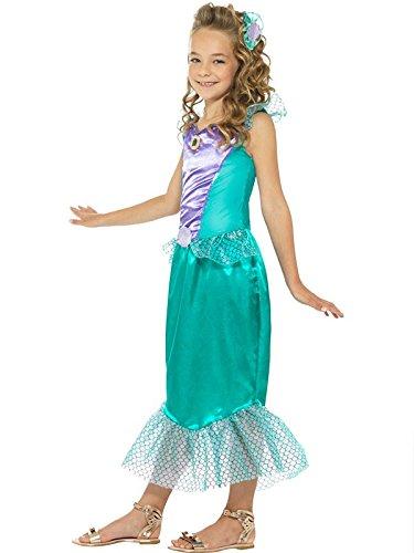 Imagen de disfraz sirenita deluxe para niña  único, 7 a 9 años alternativa