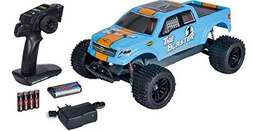 Carson 500404144 - 1:10 The Blaster FE 2.4G 100% RTR, Ferngesteuertes Auto/ Fahrzeug, RC-Fahrzeug, inkl. Batterien und Fernsteuerung