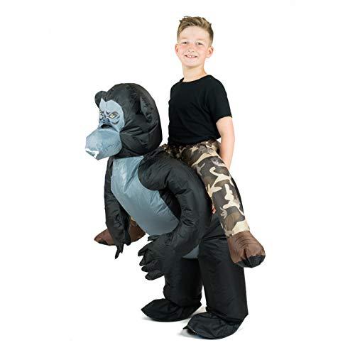 Bodysocks Aufblasbares Gorilla Kostüm für Kinder