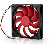 Neuftech 120 mm PC Gehäuselüfter Netzteil Lüfter leise Kühler 2 pin DC 12V - rot