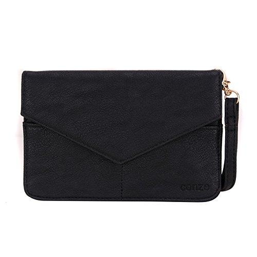 Conze da donna portafoglio tutto borsa con spallacci per Smart Phone per Samsung Galaxy Pocket 2/Neo Grigio grigio nero