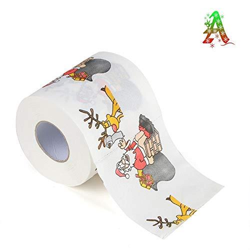 Comtervi Lustiges Toilettenpapier Weihnachten Toilettenpapier Weihnachten Motive 1 Rolle weiche und sanft Toilettenpapier
