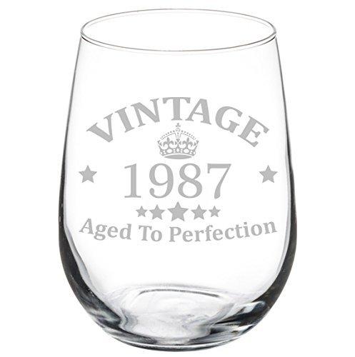 DELENA Weinglas, Weinkelch Aged To Perfection, Vintage, 30. Geburtstag 1984(325ml, ohne Stiel