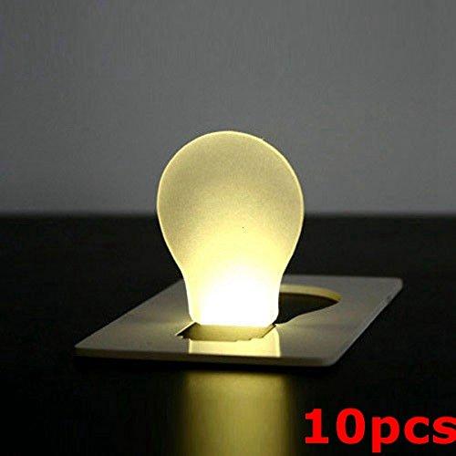 10pcs Portable Lumire Card Lampe LED Pocket Wallet Purse Lumire d'urgence