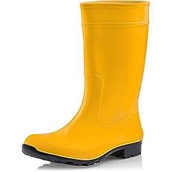 Ladeheid Botas De Agua Antideslizantes Para Mujer Color Amarillo/Negro