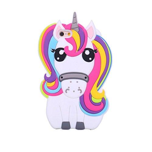 eHenZ® TM carcasa diseño unicornio 3D, funda carcasa para iPad 2,3,4; iPhone 7,7+, 6,6+, 5..., compatible con iPhone 5C iPhone 5S iPhone 5