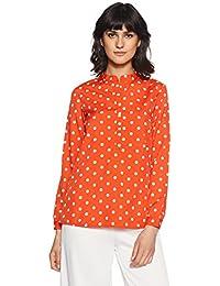 Styleville.in Women's Polka Dot Regular Fit Top