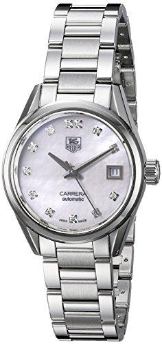"""TAG Heuer da donna""""Carrera svizzero automatico in acciaio inox orologio elegante, colore: silver-toned (modello: war2414.ba0776)"""