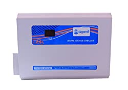 Skypower 4kVA 170-270V Economy Digital Voltage Stabilizer for 1 And 1.5 Ton Air conditiner (White and Blue)