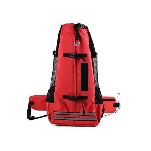 Yslin Hunde Puppy Pet Pet Carrier Backpack, Großer Hunderucksack für mittlere Hunde Bequem verstellbare Reise-Haustier-Tragetasche für das Wandern draußen,B,L Rucksäcke Tragetaschen Boxen -