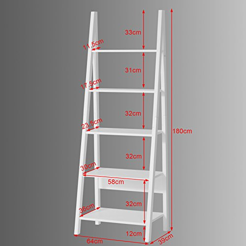 sobuy scaffale a scala moderno con cinque ripiani colore. Black Bedroom Furniture Sets. Home Design Ideas