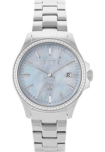 JETTE Time Damen-Uhren Rund Analog Quarz One Size Edelstahl 86801388