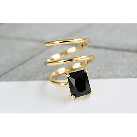 Nero Cubo anèllo(Black Cubic Ring)