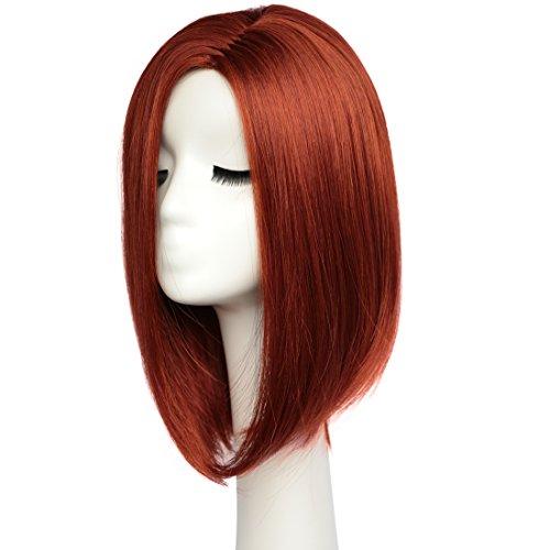 BESTUNG pelucas cortas de pelo corto Bob para mujeres hasta el hombro peluca llena miel natural color...