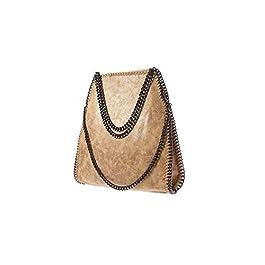 Angleliu Borsa a mano da donna in PU con catena casual, alla moda, con glitter