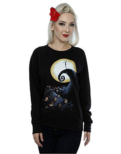 Disney Femme Nightmare Before Christmas Cemetery Sweat-Shirt Noir