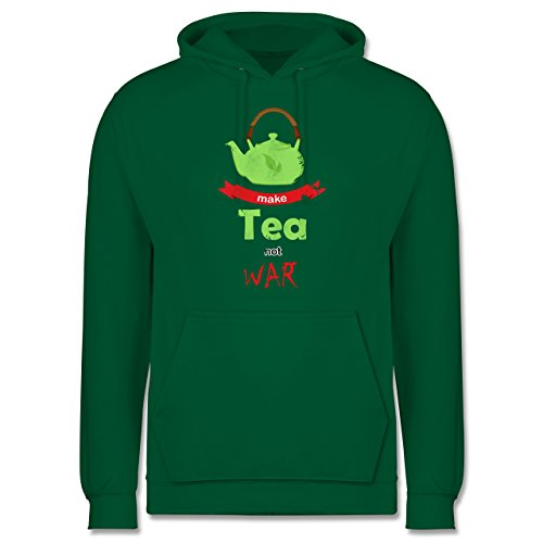 Statement Shirts - Make tea - not war - Männer Premium Kapuzenpullover / Hoodie Grün