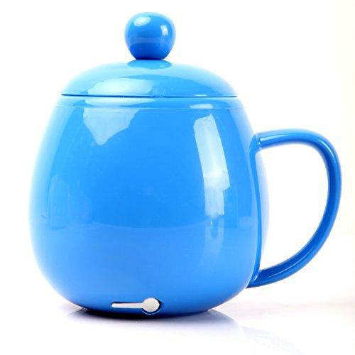QZT 300ML Cute USB Electric Kettle Coffee Tea Water Beverage Mug Cup Warmer Heater Blue Test