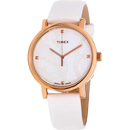 42a461696aad Timex Classics Reloj de Mujer Cuarzo 38mm Correa de Cuero dial Blanco  T2P4602K