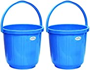 Princeware Super Delux Bucket Having Capacity of 05 Ltrs Each in Set of Two Available in Blue Colour