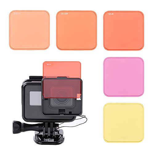 XCSOURCE Switchable Diving Lens Filters Set (Red+Purple+Yellow) For Gopro Hero 5 Sports Camera Underwater Shooting LF769