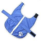 UEETEK Reflektierende Hundemantel, wasserdicht warme Hundekleidung mit Klettverschluss für große Hunde Größe XXL (blau)