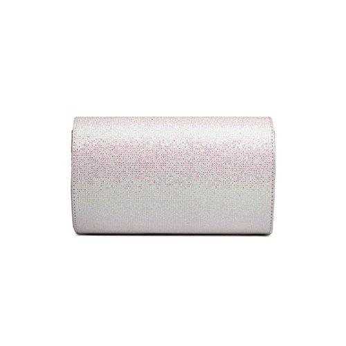 Signorina Lulu Glitter Borsa A Tracolla Elegante Catena Borsa Donna Borsa A Mano Borsa Da Sera Borsa A Tracolla Glitterato (lh1801-rosa) Lh1801-bianco