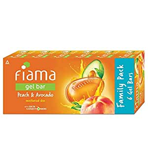 Fiama Gel Bar Peach and Avocado, 125g (Pack of 6)