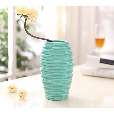 Moderno Vaso in ceramica art 2set di salotto decorazione 8cm * 11,5* 20cm Mint Green