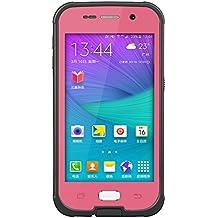 Yihya Nueva Versión Durable Sellado Completo Impermeable Case Cover funda para Apple iphone Samsung Galaxy S6 G9200 A Prueba de Golpes Snowproof Hermético al Polvo Submarino Estuche Carcasa con más Accesorios --- Rosa