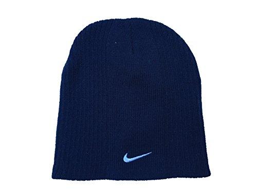 Nike Kleine Überprüfen Youth Boy 's 4/7Gerippter Beanie Hat (Marineblau) -