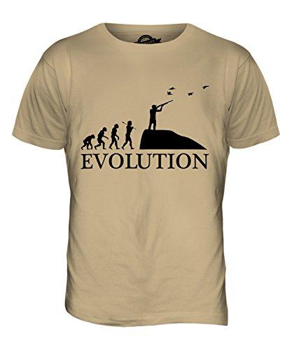 CandyMix Safari Wildjagd Evolution Des Menschen Herren T Shirt Sand
