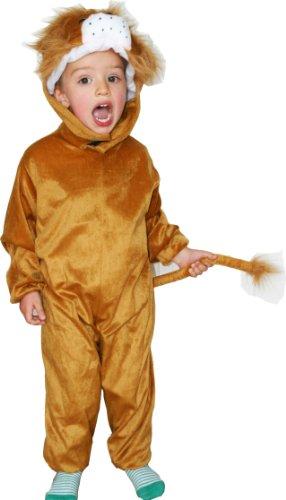 Fun Play Kinder-Abendkleid-Kostüm Löwe Tier onesis-Tierkostüm für 5-7 Jahre (122 (Kostüme Kinder Löwe)