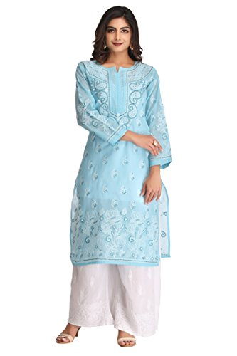 ADA Handcrafted Lucknow Chikankari Regular Fit Womens Cotton Kurti A227196