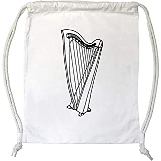 Azeeda 'Harp Instrument' Drawstring Gym Bag / Sack (DB00014140)